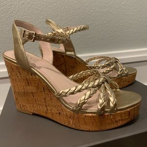 Vince Camuto Gold Wedge Sandals